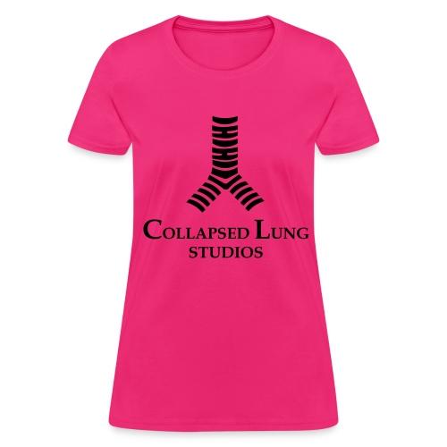Collapsed Lung Studios Logo Women's T-Shirt (Pink) - Women's T-Shirt