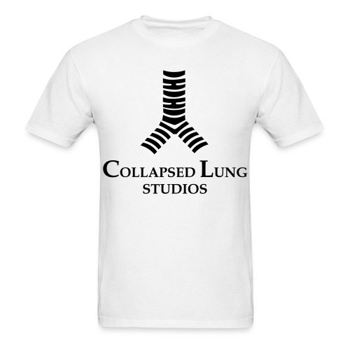 Collapsed Lung Studios Logo Men's T-Shirt (White) - Men's T-Shirt
