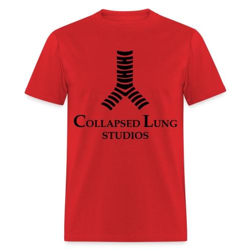 Collapsed Lung Studios Logo Men's T-Shirt (Red) - Men's T-Shirt