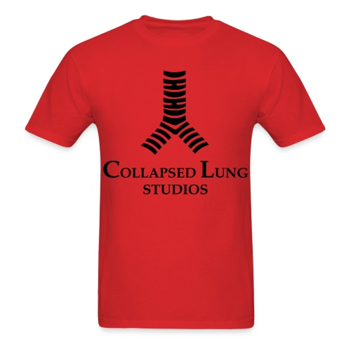 Collapsed Lung Studios Logo Men's T-Shirt (Red) - Men's T-Shirt