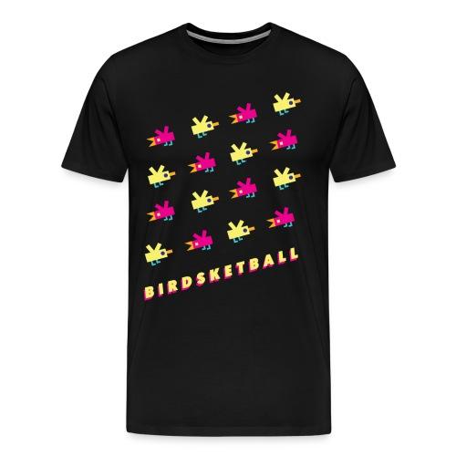 Birdsketball bird grid - Men's Premium T-Shirt
