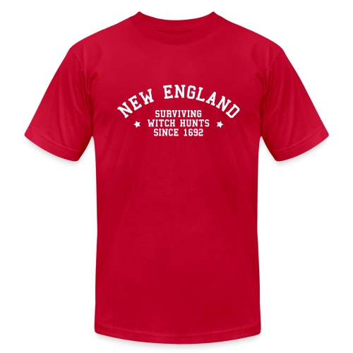 New England - Surviving Witch Hunts since 1692 - Men's T-Shirt by American Apparel