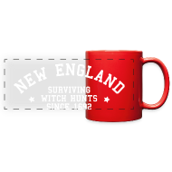 Mugs & Drinkware ~ Full Color Panoramic Mug ~ New England - Surviving Witch Hunts since 1692