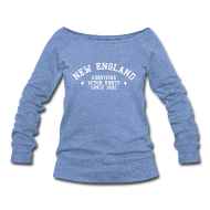Long Sleeve Shirts ~ Women's Wideneck Sweatshirt ~ New England - Surviving Witch Hunts since 1692