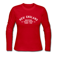 Long Sleeve Shirts ~ Women's Long Sleeve Jersey T-Shirt ~ New England - Surviving Witch Hunts since 1692