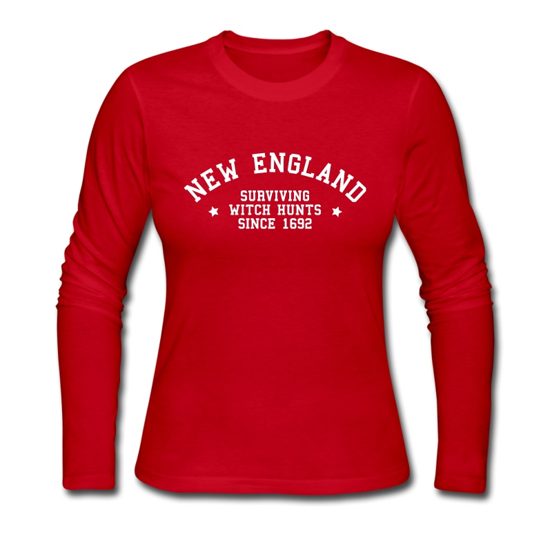 New England - Surviving Witch Hunts since 1692 - Women's Long Sleeve Jersey T-Shirt