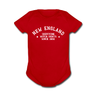 Baby Bodysuits ~ Baby Short Sleeve One Piece ~ New England - Surviving Witch Hunts since 1692