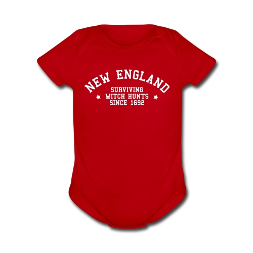 New England - Surviving Witch Hunts since 1692 - Short Sleeve Baby Bodysuit