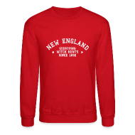 Long Sleeve Shirts ~ Crewneck Sweatshirt ~ New England - Surviving Witch Hunts since 1692