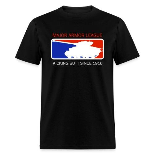 Major Armor League t-shirt (the PG rated version) - Men's T-Shirt