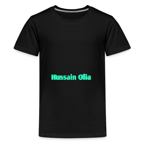 Hussain Olia Youtube kids Premium (Black) - Kids' Premium T-Shirt