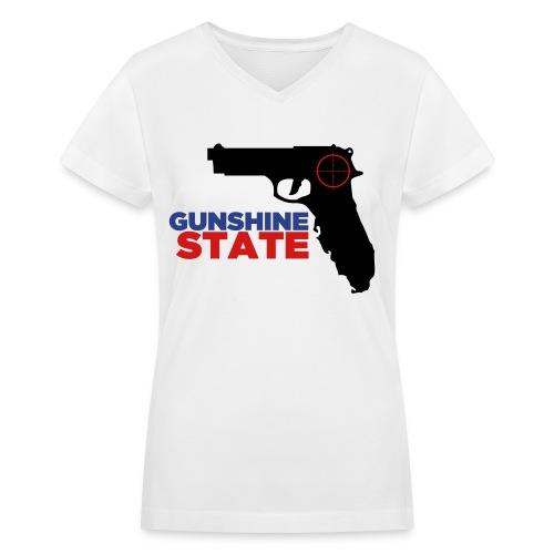 Gunshine State T-Shirt - Women's V-Neck T-Shirt