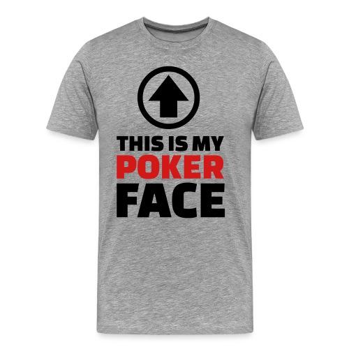 Poker Face - Men's Premium T-Shirt