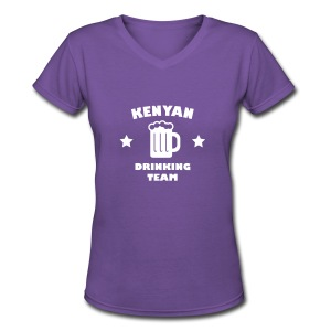 Kenyan Drinking Team - Women's V-Neck T-Shirt