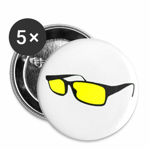 Yellow Glasses Pins - Buttons small 1'' (5-pack)