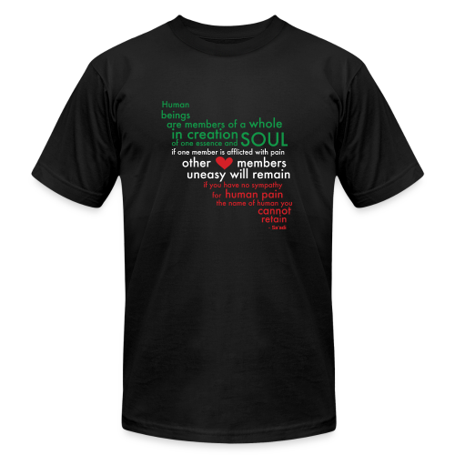Saadi Iran Shirt (black) - Men's Fine Jersey T-Shirt