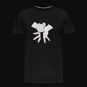 Knife Game Hand Red - Men's Premium T-Shirt