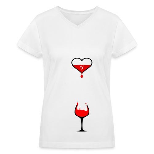 Dropping Blood T-Shirt - Women's V-Neck T-Shirt
