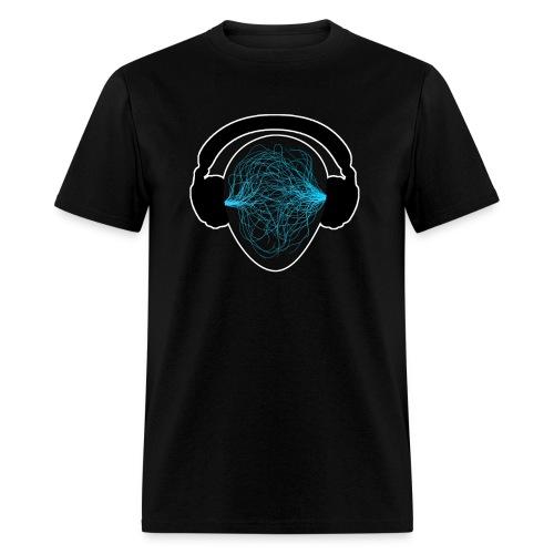 Blue Music waves  - Men's T-Shirt