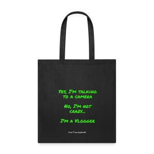 Not Crazy Vlogger Tote Bag - Tote Bag