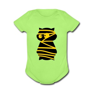Halloween mummy Baby Short Sleeve One Piece - Short Sleeve Baby Bodysuit