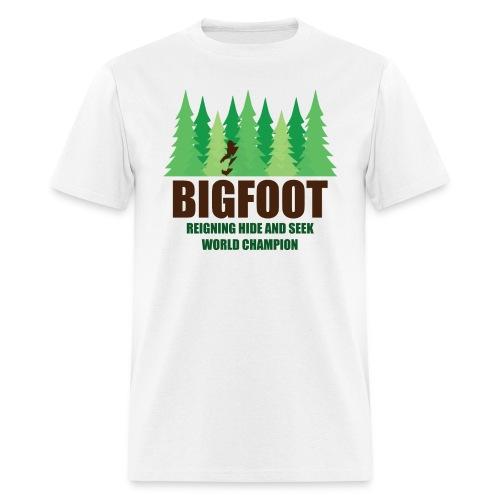 Bigfoot reigning hide and seek champion  - Men's T-Shirt