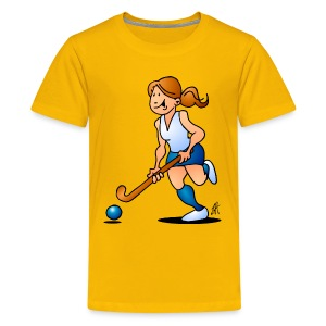 Field  hockey girl Kids' Shirts - Kids' Premium T-Shirt