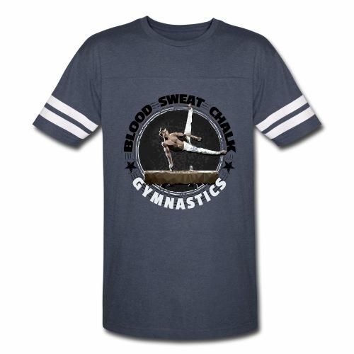 Blood, Sweat & Chalk - Men's Gymnastics - Vintage Sport T-Shirt