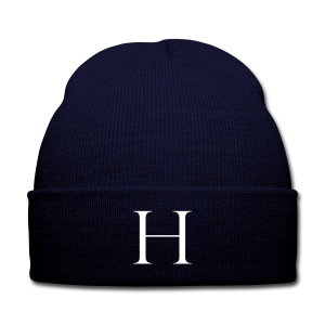 H is for Haute Knit Cap with Cuff Print (Navy/White)  - Knit Cap with Cuff Print