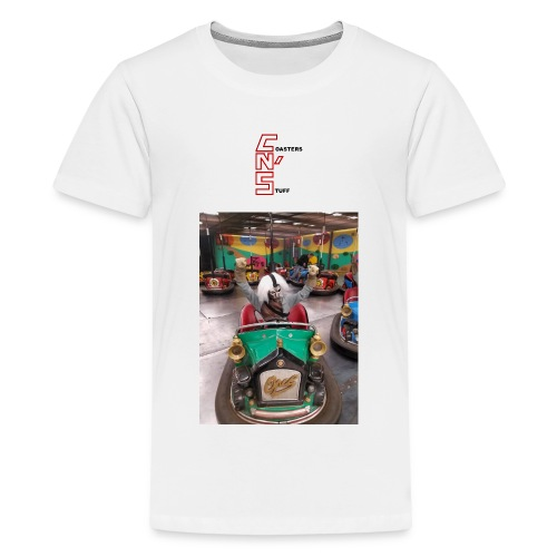 Hackinslash Chainsaw Scare Actor In Bumper Car Mens T-Shirt - Kids' Premium T-Shirt