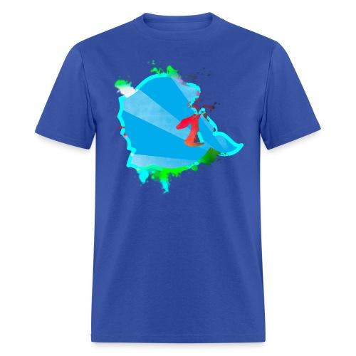 Paint Splatter Salmon - Men's T-Shirt