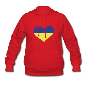 Ukraine Heart; Love Ukraine Hoodies - Women's Hoodie