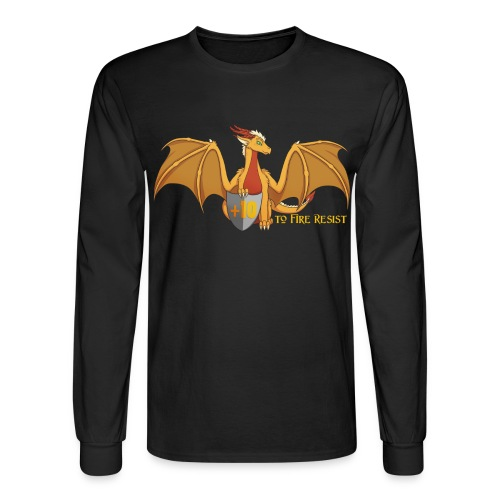+10 to Fire Resist Men's Long Sleeve T-Shirt - Men's Long Sleeve T-Shirt