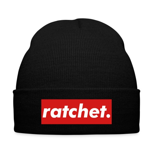 Ratchet Beanie - Knit Cap with Cuff Print