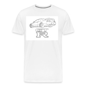 R32 GTR Rear Quarter - Men's Premium T-Shirt