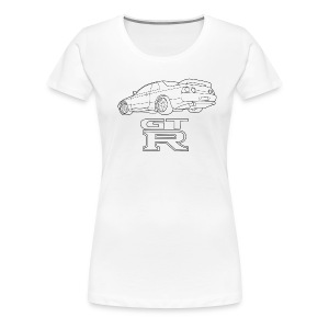 R32 GTR Rear Quarter - Women's Premium T-Shirt
