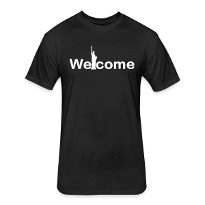 Welcome T shirt - Fitted Cotton/Poly T-Shirt by Next Level