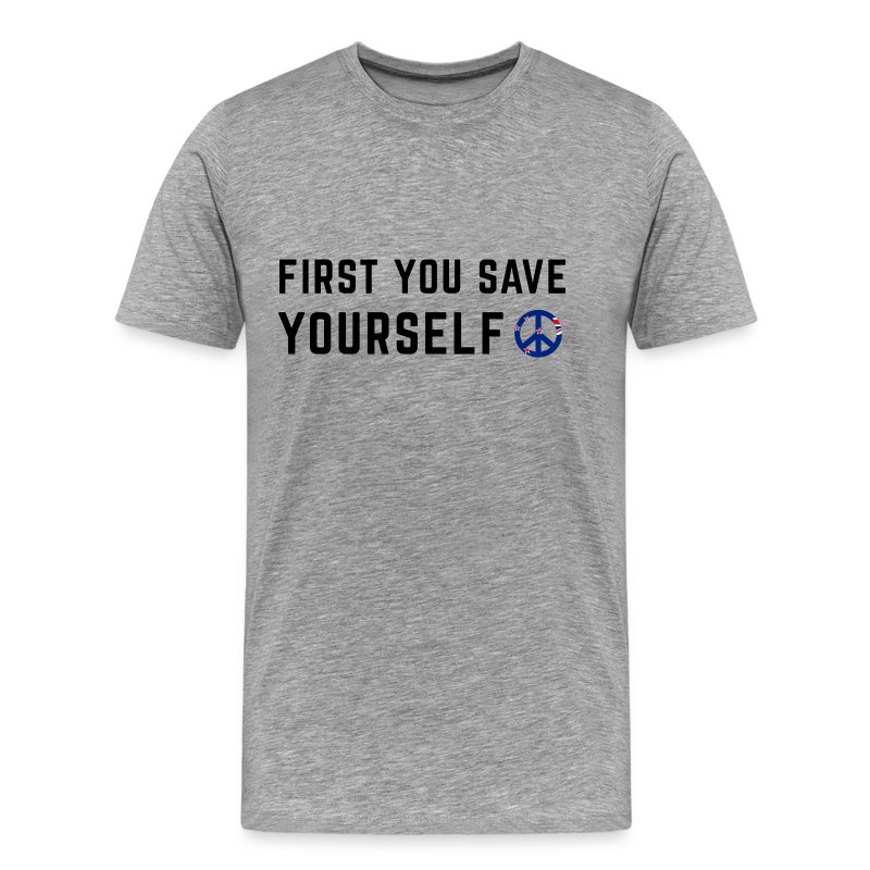 Save Yourself Men's Premium T Shirt Front & Back Print Various Colours - Men's Premium T-Shirt