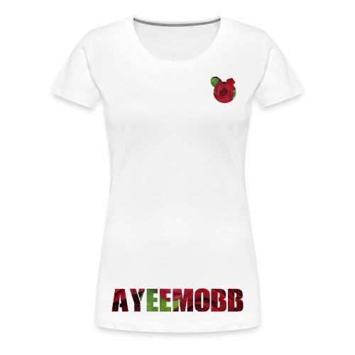 AyeeMobb Floral (Women) - Women's Premium T-Shirt