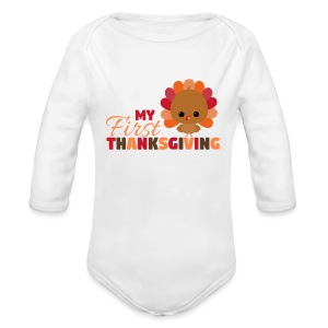 Baby First Thanksgiving - Long Sleeve Baby Bodysuit