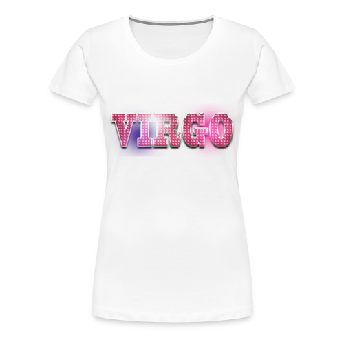 Women's Virgo Text Logo 2 - Women's Premium T-Shirt
