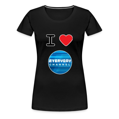 I Love EC T-Shirt Black! (FEMALE) - Women's Premium T-Shirt