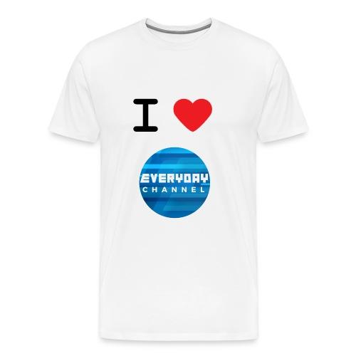 I Love EC T-Shirt White! (MALE) - Men's Premium T-Shirt