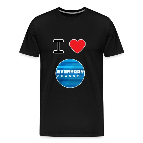 I Love EC T-Shirt Black! (MALE) - Men's Premium T-Shirt