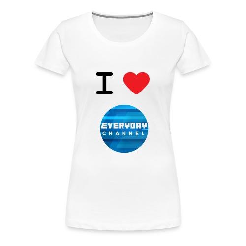 I Love EC T-Shirt White! (FEMALE) - Women's Premium T-Shirt