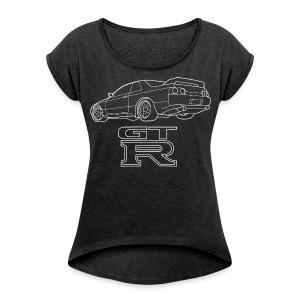 R32 GTR Rear Quarter - Women's Roll Cuff T-Shirt