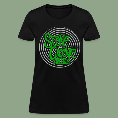 Stone Groove Records - Spiral Green Logo T-Shirt (women's) - Women's T-Shirt