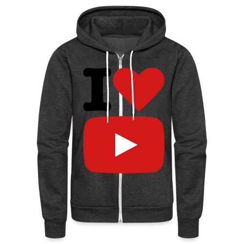Show pride with I Love YouTube Hoodie! - Unisex Fleece Zip Hoodie