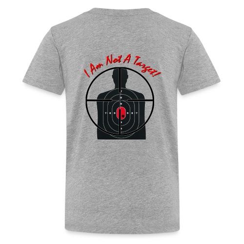 I am not a target - Gun Site Kid's T-Shirt - Kids' Premium T-Shirt