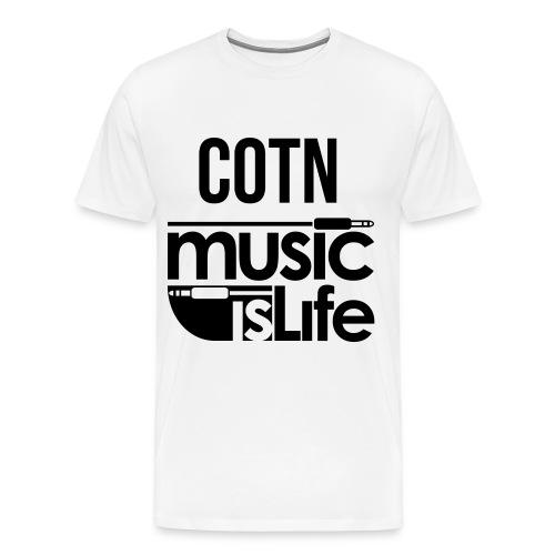 COTN Music is Life Tee - Men's Premium T-Shirt